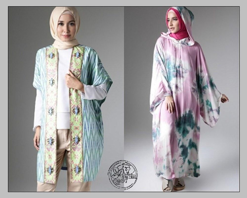 Model Tren Baju Lebaran Budm Tren Busana Muslim Lebaran Tie Dye Dian Pelangi
