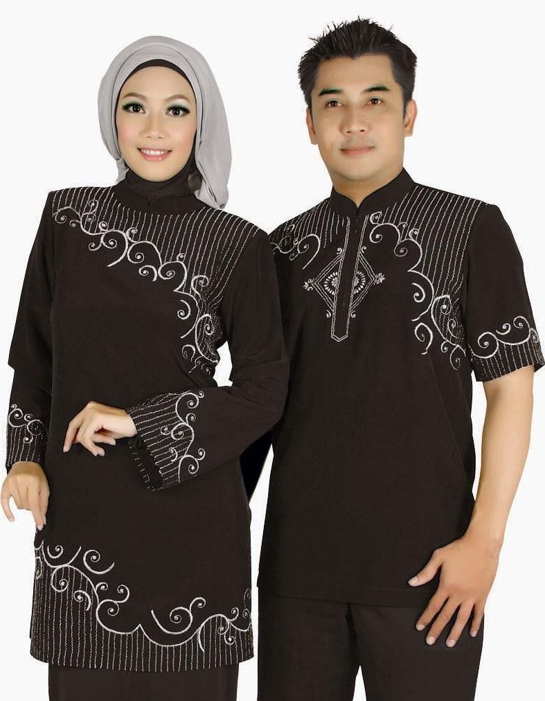 Model Tulisan Baju Lebaran 9fdy Model Couple Busana Muslim Lebaran 2015