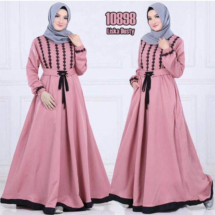 model-baju-Gamis-katun-2018-terbaru-Liska-pink-fg.jpg