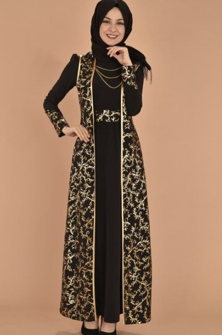 Model-Gamis-Batik-Kombinasi-Polos-Katun-Modern-Hitam-Nude-Cream.jpg