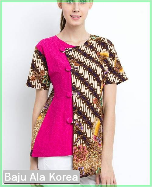 Model-Baju-Batik-Kantor-Kombinasi-Kain-Polos-Korea.jpg