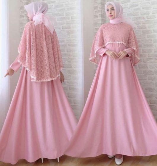 Model-Baju-Gamis-Pesta-Brokat-Model-Cape-Pink-Soft-e1547049201334.jpg