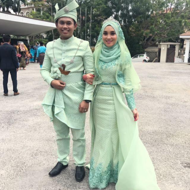 Baju Pengantin Muslimah Simple Tapi Elegan Best Of 36 Baju Pengantin songket Mint Green Modis Dan Cantik