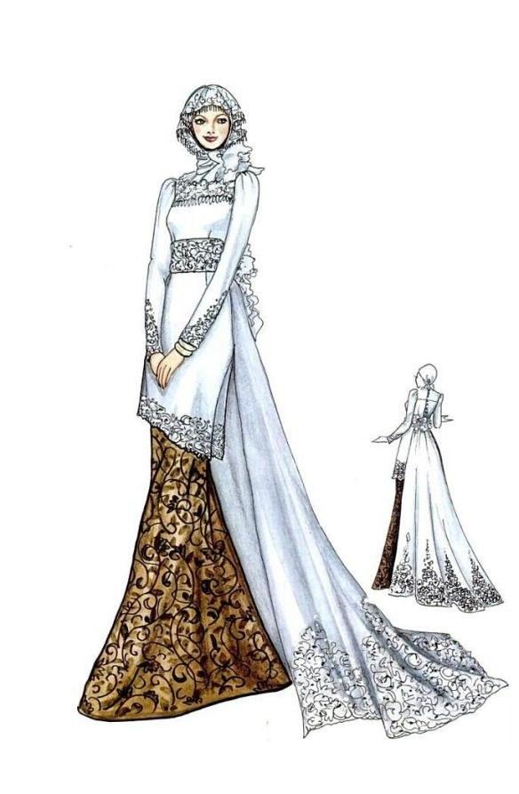 Bentuk Baju Kebaya Pengantin Muslim Etdg Design Model Baju Kebaya Pengantin Muslim Zwdg Kebaya Dan
