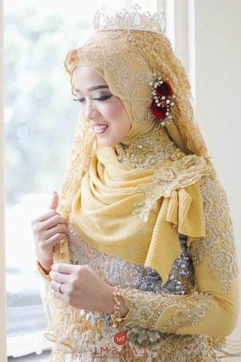 Bentuk Baju Kebaya Pengantin Muslim Irdz Model Baju Pengantin Muslim Baju Pengantin Muslim Dan Model