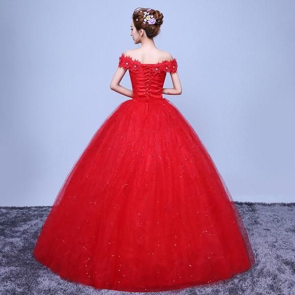 Bentuk Baju Pengantin Muslimah Modern 2014 Fmdf wholesale Fashionable Red Lace F the Shoulder Wedding Dress Customized Bridal Gowns Flowers with Crystal Vestido De Noiva White Wedding Dresses
