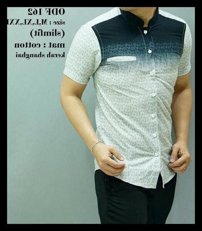 Bentuk Baju Pengantin Pria Muslim Modern Qwdq Jual Terlaris Baju Koko Modern Pria Baju Muslim Lengan Pendek Batik Od Dki Jakarta Mafaza Shop65