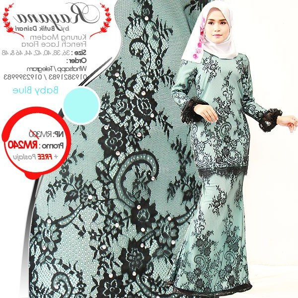 Bentuk Busana Pengantin Muslim Modern Txdf Kurung Modern Lace Rayana