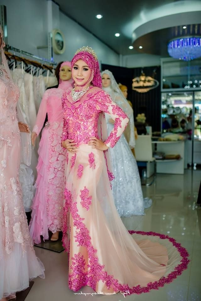 Bentuk Gambar Gaun Pengantin Muslim Modern Mndw Melody