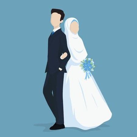 Bentuk Gambar Gaun Pengantin Muslim Modern Thdr 108 823 Muslim Cliparts Stock Vector and Royalty Free