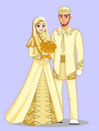 Bentuk Gaun Pengantin Muslim Terbaru Kvdd 108 823 Muslim Cliparts Stock Vector and Royalty Free