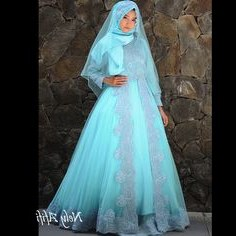 Bentuk Gaun Pengantin Muslimah Biru Muda Drdp 42 Best Wedding Dress Muslimah Images