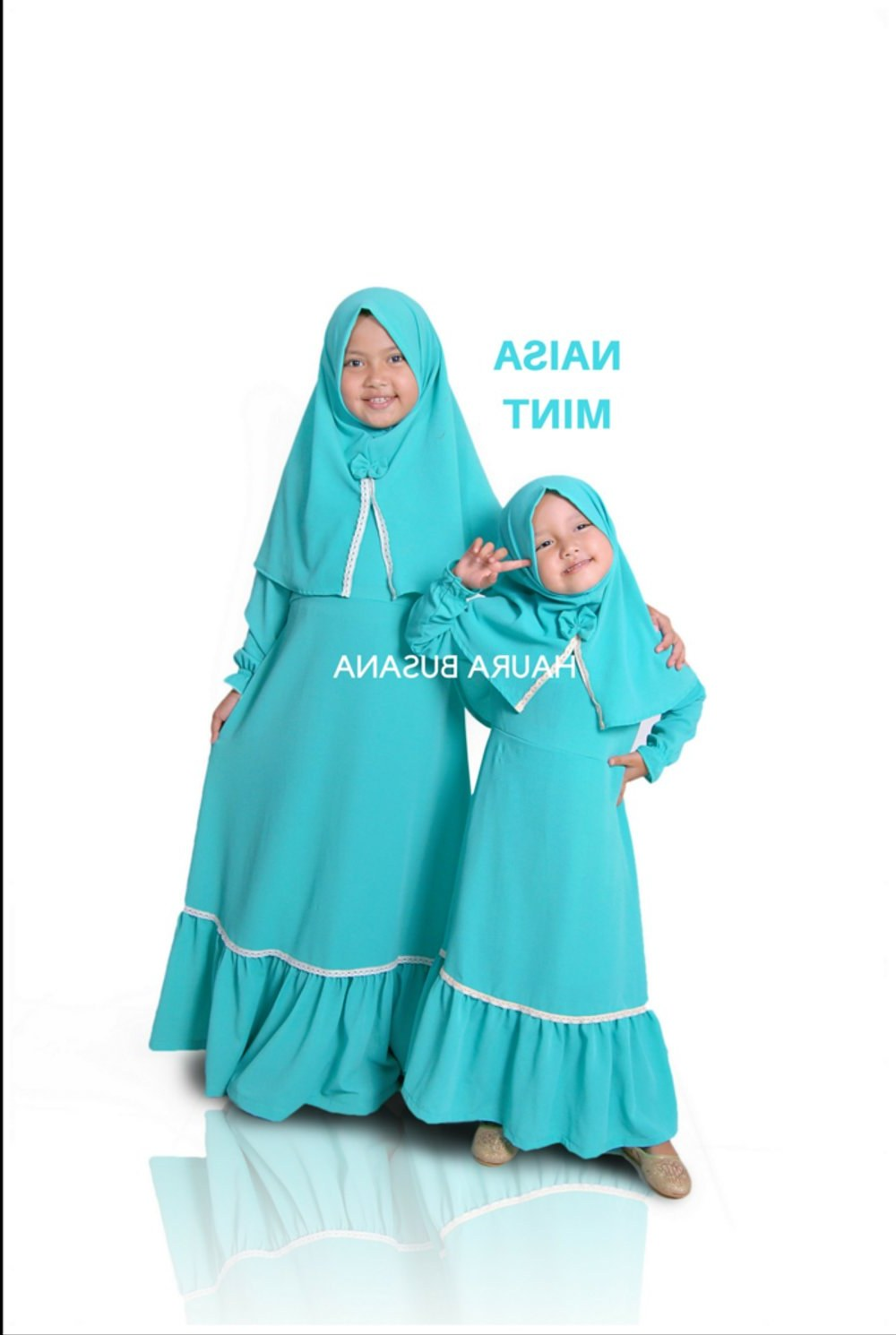 Bentuk Gaun Pengantin Muslimah Biru Muda Etdg Bayi