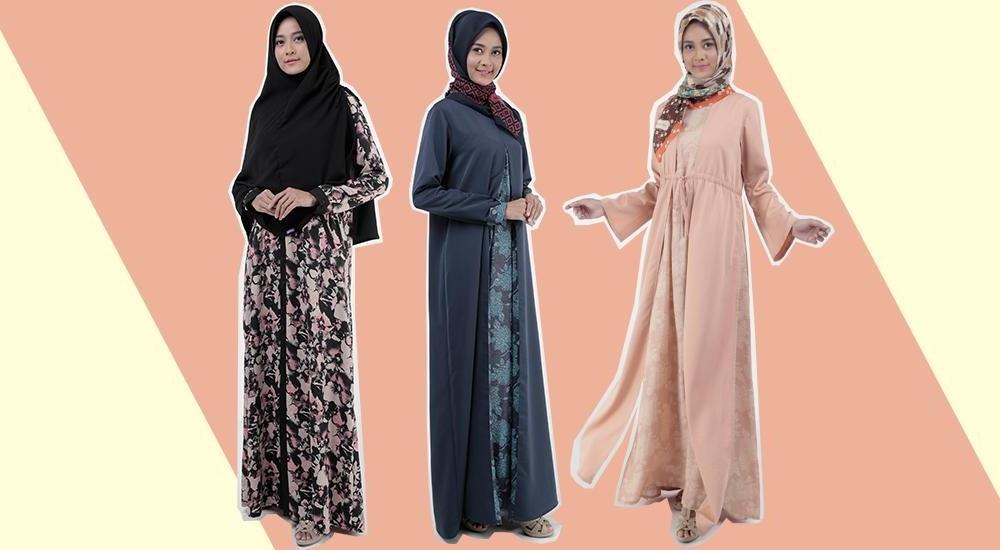 Bentuk Gaun Pengantin Muslimah Biru Muda Ffdn Dress Busana Muslim Gamis Koko Dan Hijab Mezora