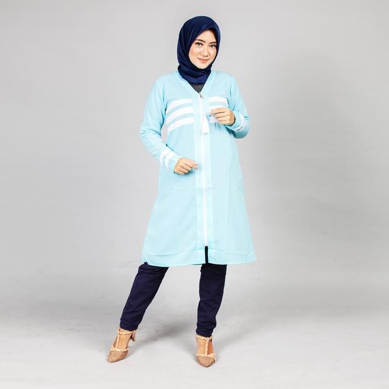 Bentuk Gaun Pengantin Muslimah Biru Muda Ftd8 Dress Busana Muslim Gamis Koko Dan Hijab Mezora