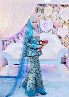 Bentuk Gaun Pengantin Muslimah Biru Muda Qwdq 28 Best Emerald Images