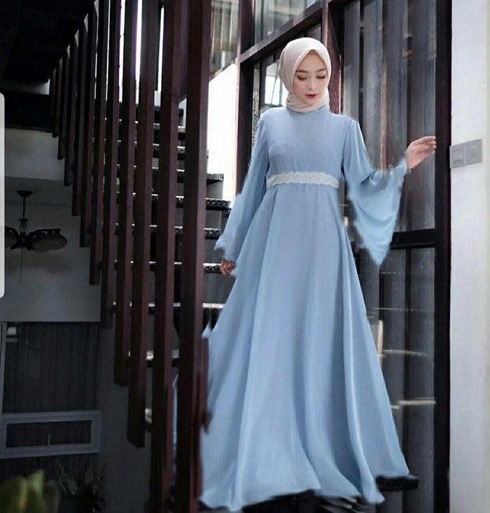 Bentuk Gaun Pengantin Muslimah Biru Muda S1du Jual Od Maxy Vice oraida Blue Dusty Maron Maxi Dress Gamis Syari Terbaru Biru Muda Dki Jakarta Ferisna Os