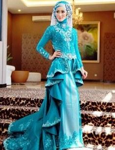 Bentuk Gaun Pengantin Muslimah Biru Muda Tldn 8 Best islamic Dress Images