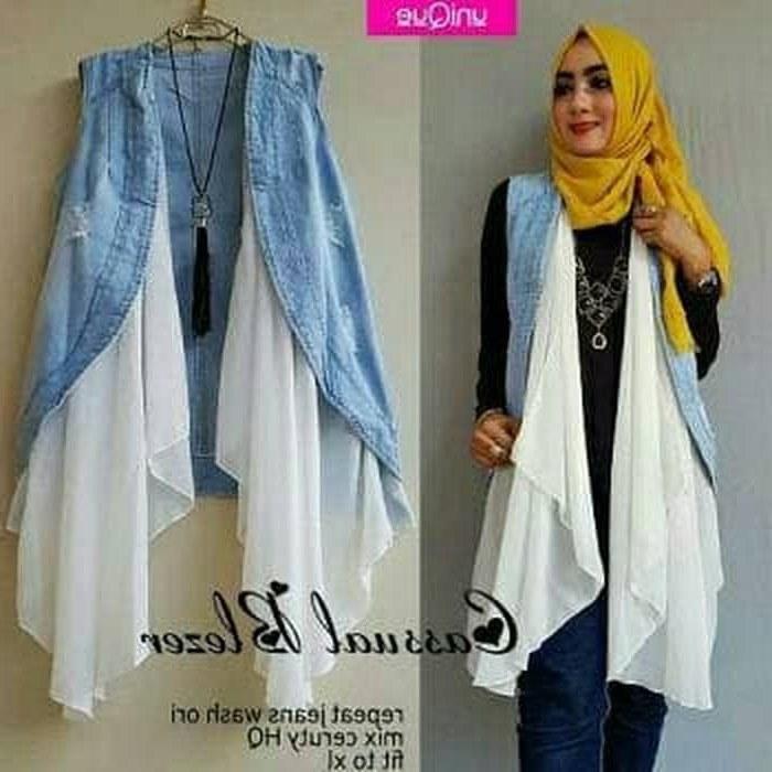 Bentuk Gaun Pengantin Muslimah Biru Muda Tldn Jual Vest Casual Od Bahan Jeans Mix Ceruti Fit to Xl Biru Muda Dki Jakarta Megumi Store