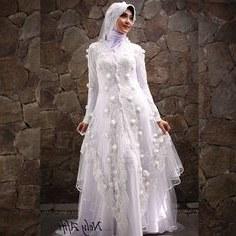 Bentuk Gaun Pengantin Muslimah Biru Muda Whdr 42 Best Wedding Dress Muslimah Images