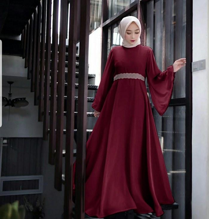 Bentuk Gaun Pengantin Muslimah Biru Muda Whdr Jual Od Maxy Vice oraida Blue Dusty Maron Maxi Dress Gamis Syari Terbaru Biru Muda Dki Jakarta Ferisna Os