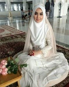Bentuk Gaun Pengantin Muslimah Terindah Drdp 15 Best Hijab Pengantin Syari Images In 2019