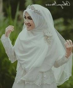 Bentuk Gaun Pengantin Muslimah Terindah Tldn 15 Best Hijab Pengantin Syari Images In 2019