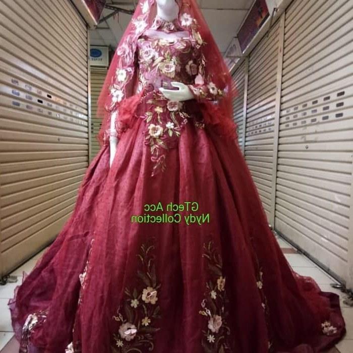 Bentuk Gaun Pengantin Muslimah Warna Merah Marun 0gdr Jual Kebaya Pengantin Merah Marun Dki Jakarta Nydy Collection