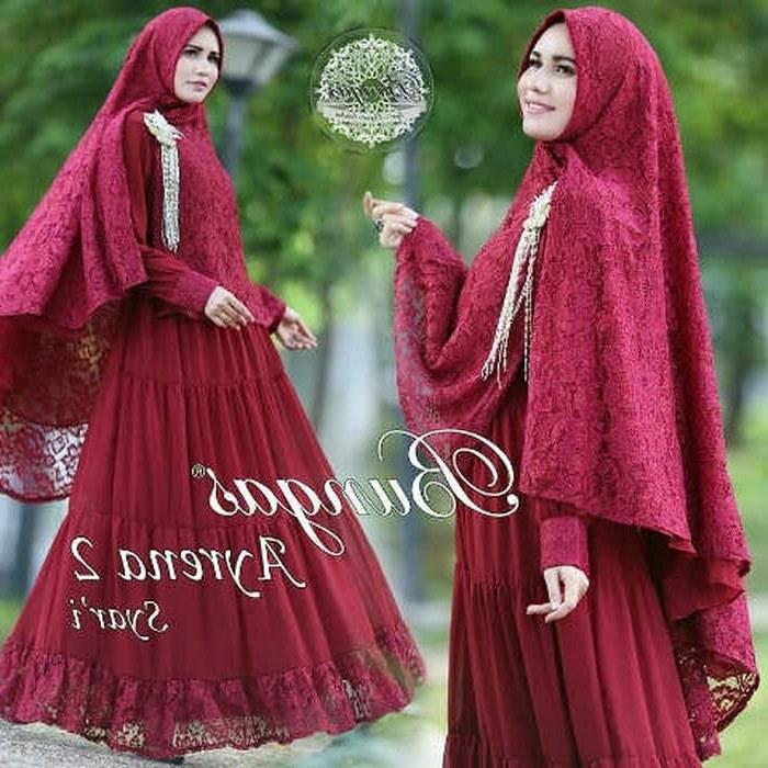 Bentuk Gaun Pengantin Muslimah Warna Merah Marun 8ydm Jual Baju Syar I Warna Merah Marun Busana Muslim Wanita Dki Jakarta Barokah Jaya Indah