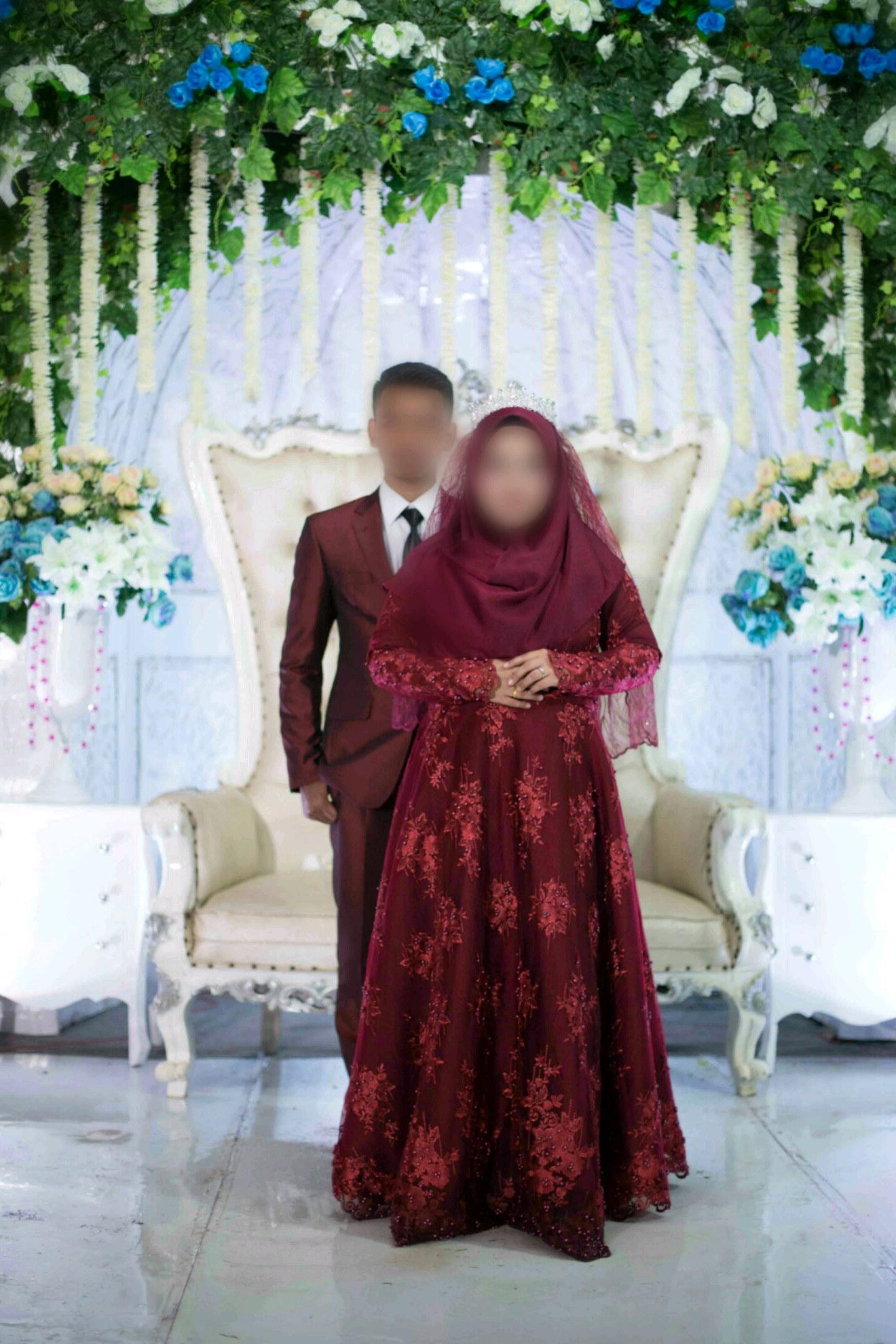 Bentuk Gaun Pengantin Muslimah Warna Merah Marun Tldn Jual Produk Jas Pengantin Merah Maroon Murah Dan Terlengkap