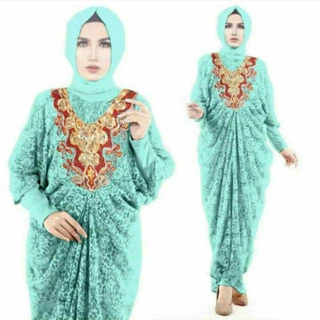 Bentuk Gaun Pengantin Wanita Muslimah 4pde Samira Kaftan Brokat