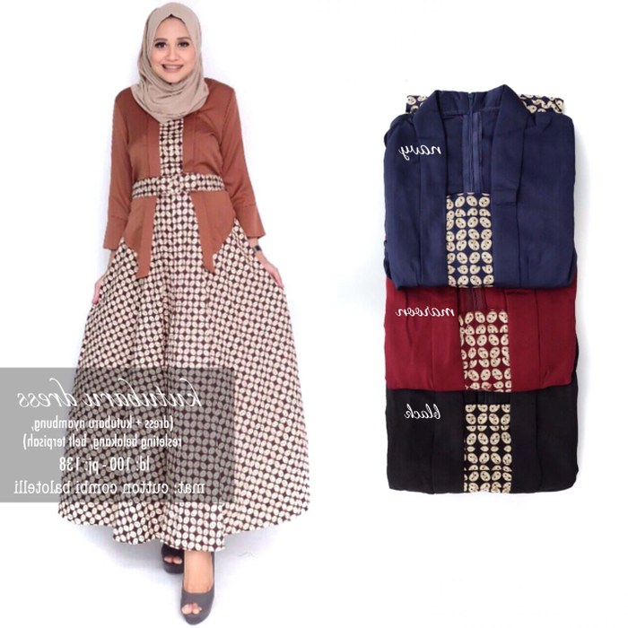 Bentuk Gaun Pengantin Wanita Muslimah O2d5 Jual Baju Terusan Wanita Muslim Longdress Kutubaru Dress Kota Surakarta Myfashion