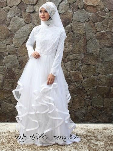 Bentuk Gaun Pernikahan Muslimah Elegan Txdf 24 Gaun Pengantin Muslimah Sederhana Tapi Modern