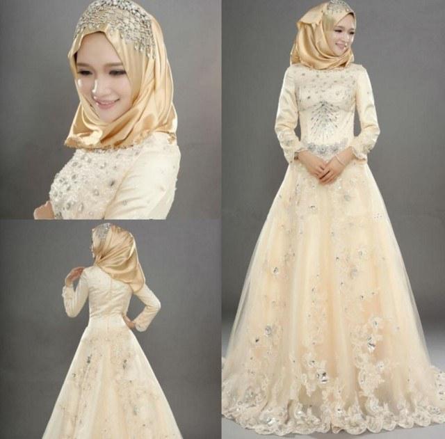Bentuk Gaun Pernikahan Muslimah Elegan Txdf 27 Gaun Pernikahan Simple Tapi Elegan Konsep Terkini