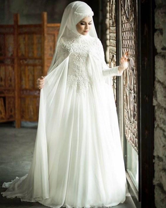 Bentuk Gaun Pernikahan Muslimah Elegan Zwd9 40 Model Baju Pengantin Muslimah Modern Dan Elegan