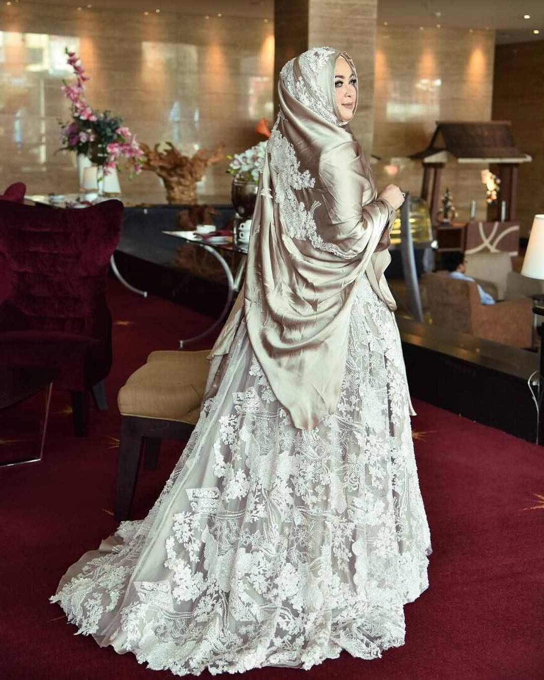 Bentuk Gaun Pernikahan Muslimah Syar'i E9dx Gaun Pengantin Syar I Hitam Inspirasi Pernikahan