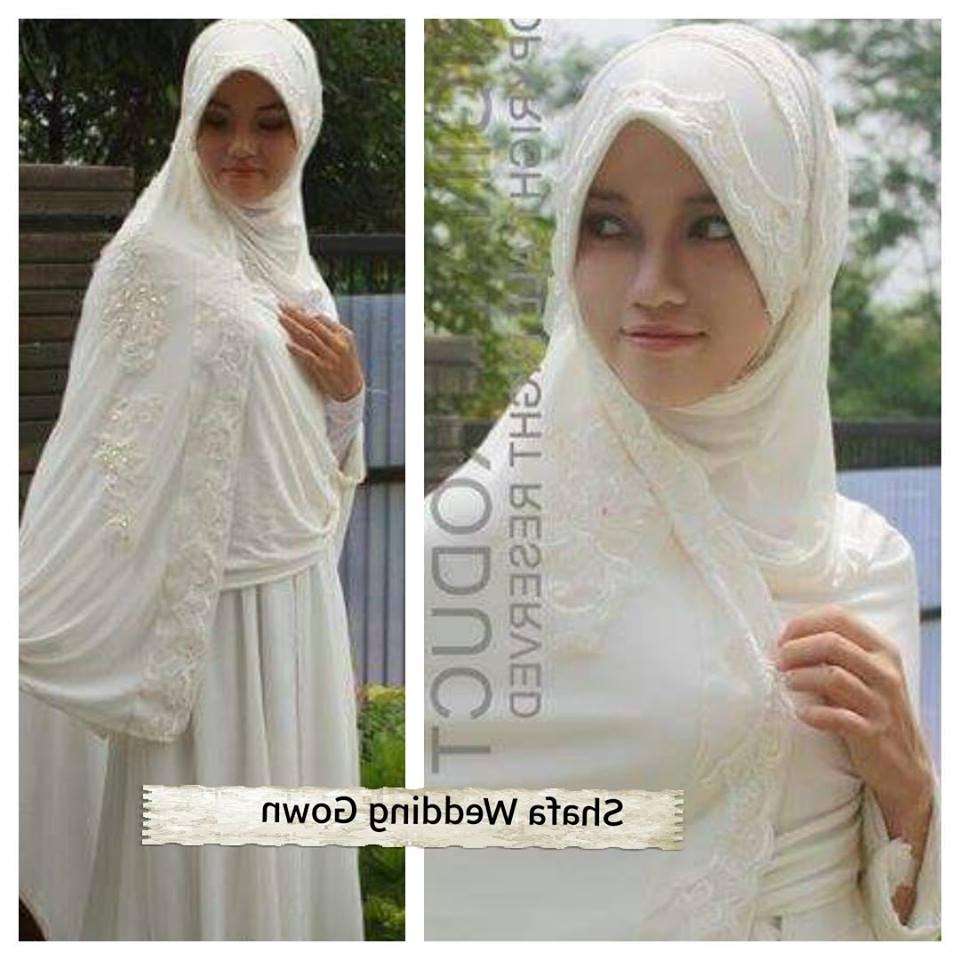 Bentuk Harga Gaun Pengantin Muslimah Syar'i 4pde Sa Ma Ra Boutique butik Baju Pesta Keluarga Muslim Gaun