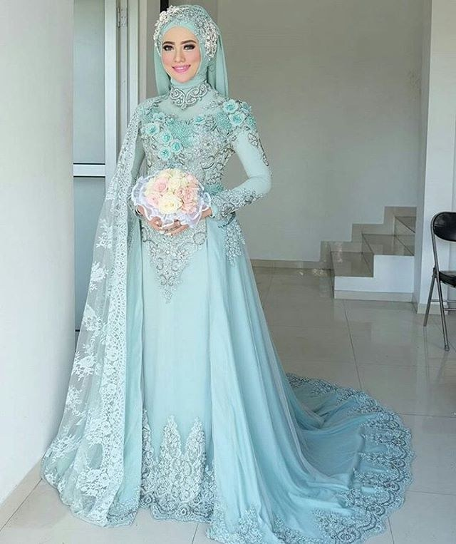 Bentuk Harga Gaun Pengantin Muslimah Syar'i 87dx 17 Model Baju Pengantin Muslim 2018 Desain Elegan Cantik