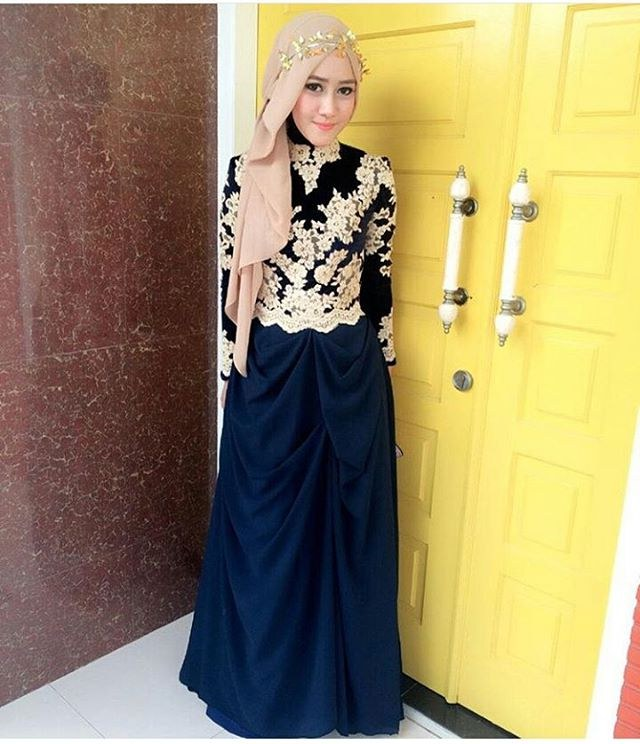 Bentuk Harga Gaun Pengantin Muslimah Syar'i E6d5 Koleksi Contoh Baju Muslim Buat Acara Nikahan Di Gedung