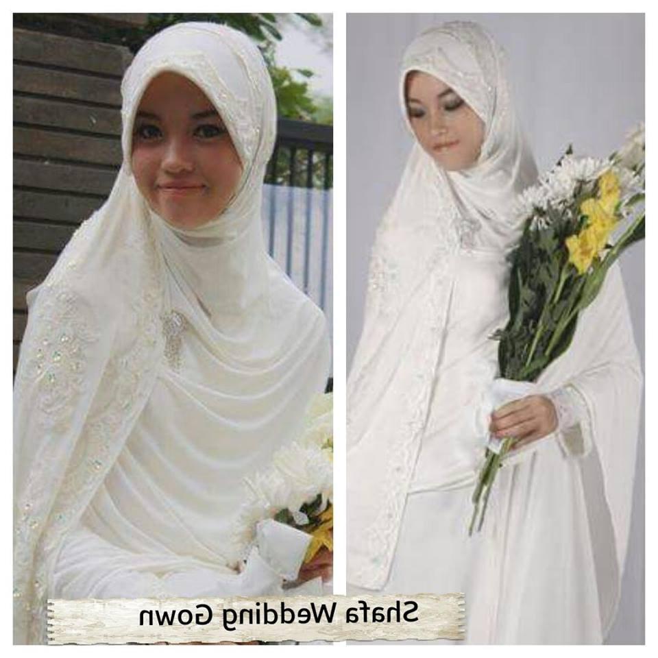 Bentuk Harga Gaun Pengantin Muslimah Syar'i T8dj Sa Ma Ra Boutique butik Baju Pesta Keluarga Muslim Gaun