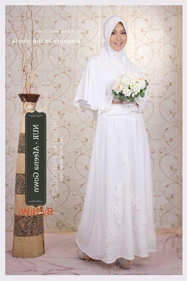 Bentuk Harga Gaun Pengantin Muslimah Syar'i Wddj Adeeva Afeena Aleeta Wedding Gown