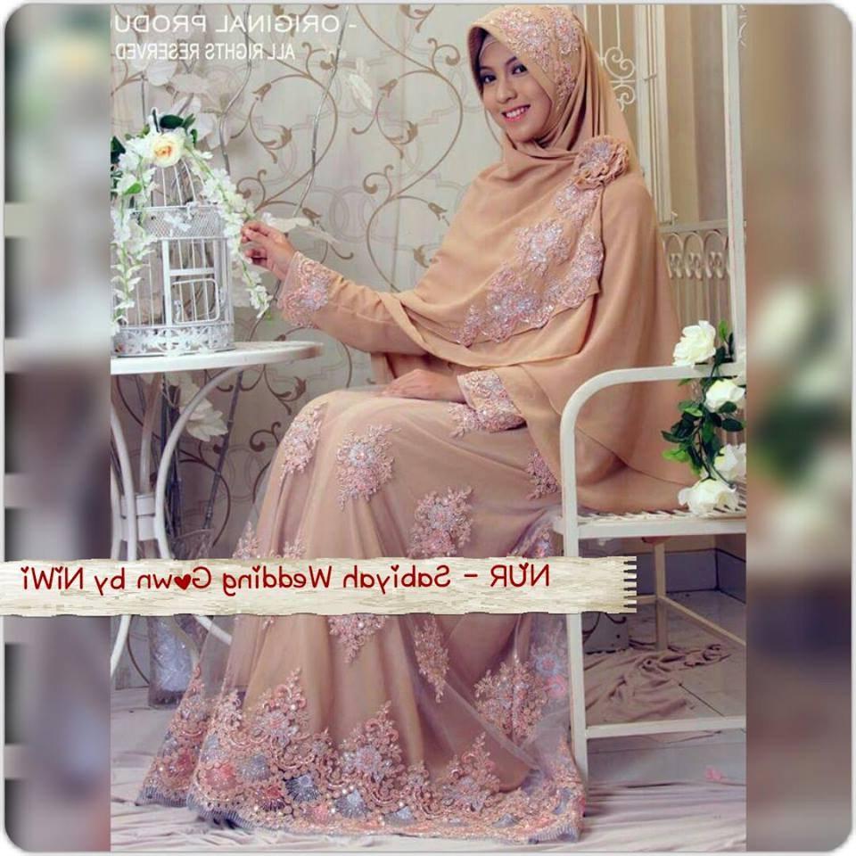 Bentuk Harga Gaun Pengantin Muslimah Syar'i X8d1 Gaun Pengantin Syar'i Sabiyah Gown by Nines Widosari Gold