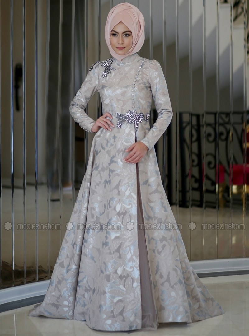 Bentuk Inspirasi Gaun Pengantin Muslim Etdg Silver Muslim Wedding Dress – Fashion Dresses