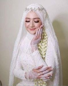Bentuk Kebaya Pernikahan Muslimah Terindah D0dg 15 Best Hijab Pengantin Syari Images In 2019