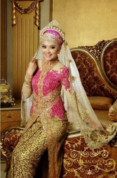 Bentuk Model Baju Kebaya Pengantin Muslimah Kvdd Model Baju Pengantin Muslim Baju Pengantin Muslim Dan Model