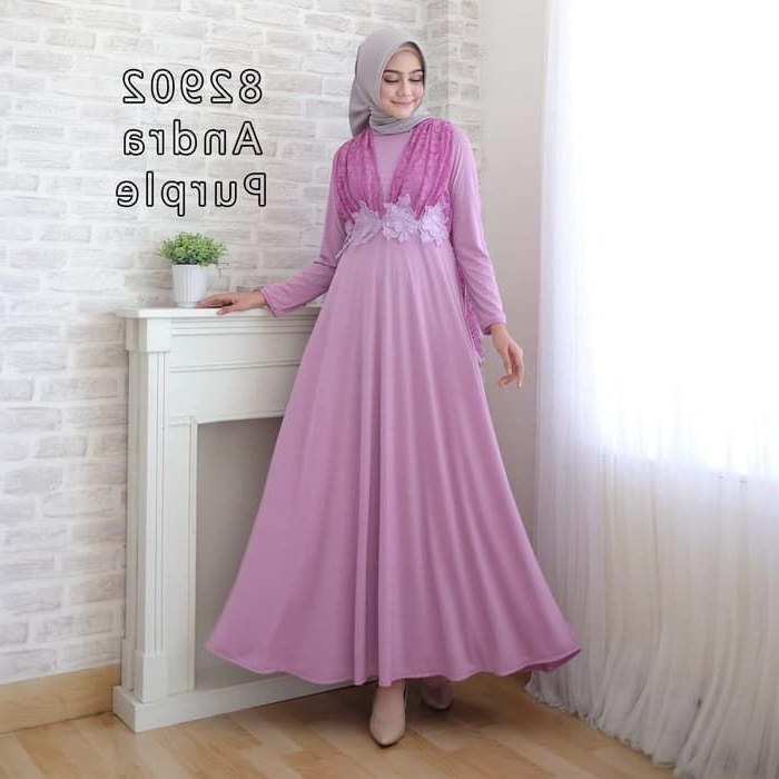 Bentuk Model Gaun Pengantin Muslim Modern Xtd6 Model Kebaya 2019 Warna Ungu Gamis Brokat
