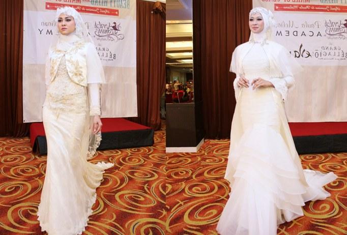 Bentuk Sewa Baju Pengantin Muslimah Kvdd Busana Pengantin Muslimah Ala Paula Meliana