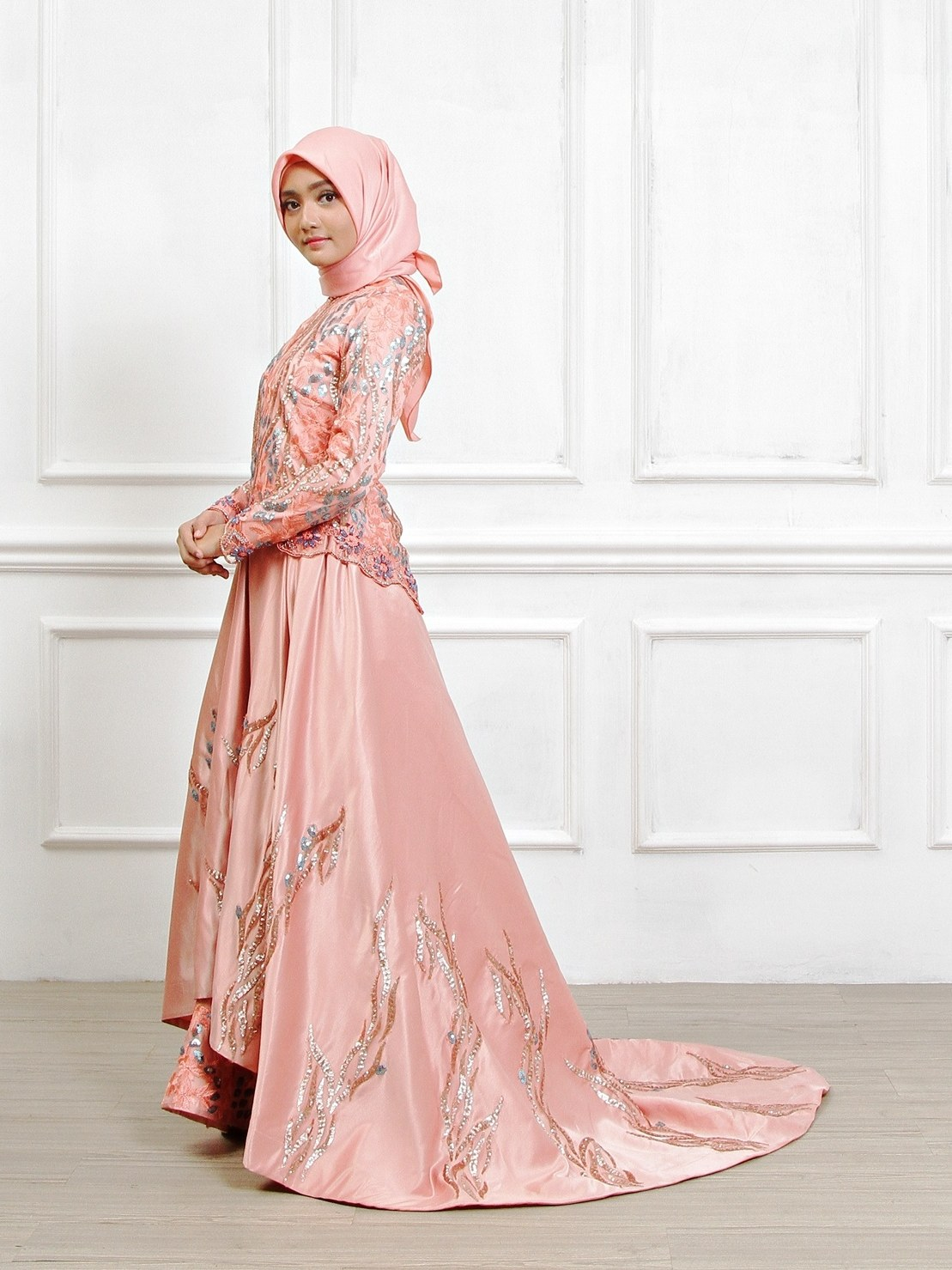 Bentuk Sewa Gaun Pengantin Muslimah Di solo Txdf Gaun Pengantin Muslimah Dress Muslim Pungky Rumah Jahit