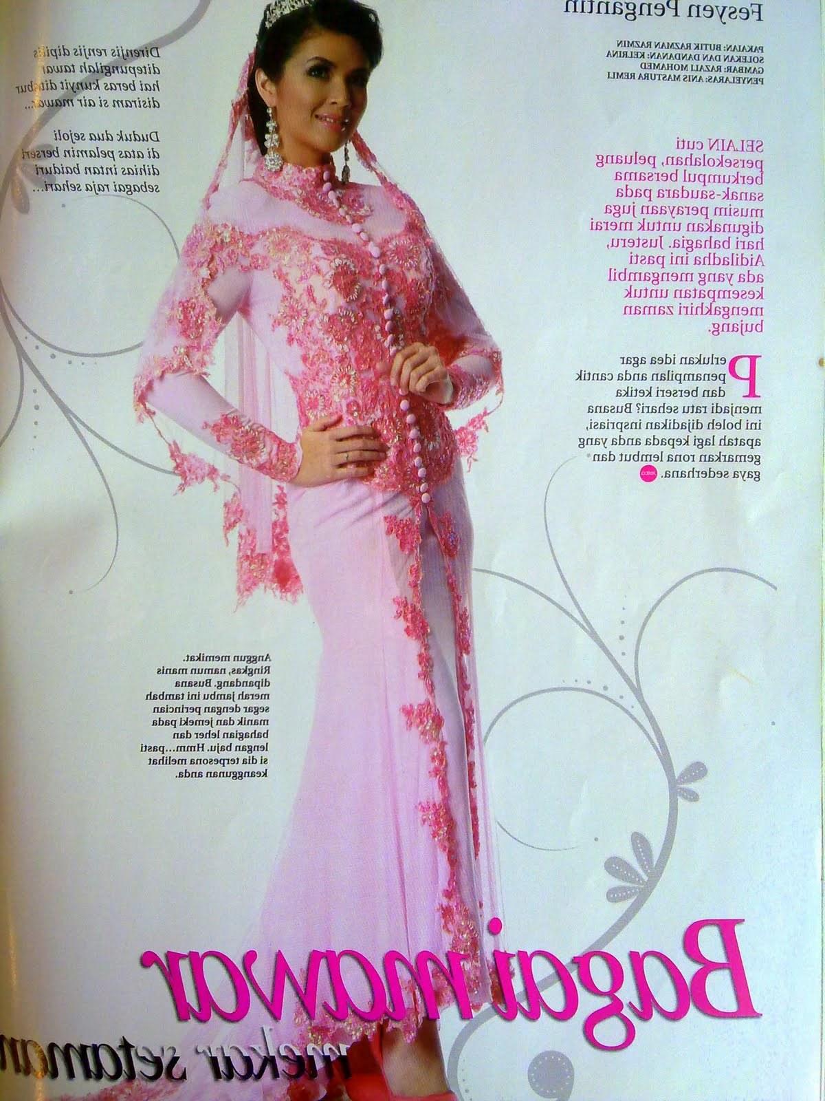 Contoh Gaun Pengantin Muslimah Warna Pink 0gdr Wynn Nasution 2010