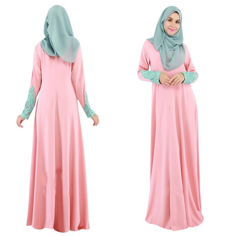 Contoh Gaun Pengantin Muslimah Warna Pink 9ddf Ss Gaun Maxi Wanita Dengan Model Kaftan Lengan Panjang Dan Ber A Fashionable